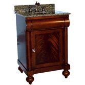 "John Adams 24"" Vanity in Brown Cherry with Granite Top"