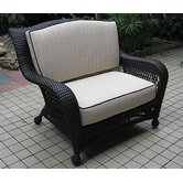 Ebony &amp; Ivory Wicker Deep Seating Chair and a Half