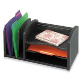 Three Shelf Organizer with Three Slots in Black