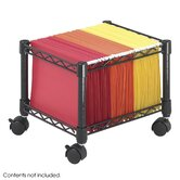 Mini Mobile Wire File Cart, Steel Wire