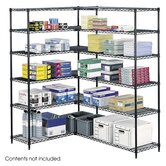 Industrial Wire Shelving in Black