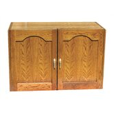 2 Door Oak Wine Cooler Credenza with Furniture Trim