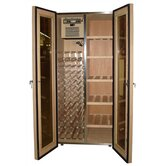 440 Two Door Oak Wine & Cigar Cooler Cabinet