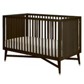 Mid-Century Two Piece Crib Set in Espresso