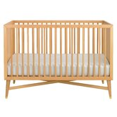Mid-Century Crib In Natural