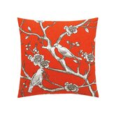Vintage Blossom Persimmon Pillow