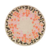 Rosette Blossom Round Kids Rug