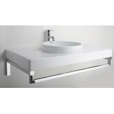 Planet 85 Above Counter or Wall Mount Bathroom Sink with Towel Rod