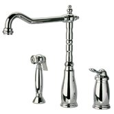 Old Fashion One Handle Widespread Kitchen Faucet with Side Spray