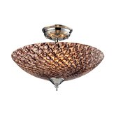 Nightglow 3 Light Semi Flush Mount