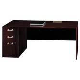 Quantum Series Left Credenza with Pedesta