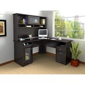Cabot L-Desk with Hutch