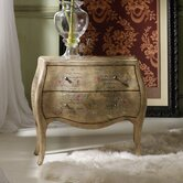 Melange Le Papillon Chest with Textured Burlap-Like Finish