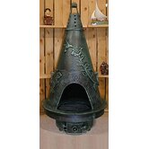 Garden Style Chiminea with Gas Kit and Cover