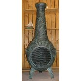 Butterfly Style Chiminea with Gas Kit and Cover