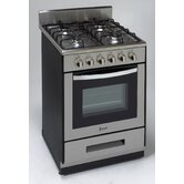 "24"" Sealed Burner Gas Range"