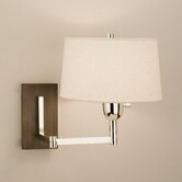 Wonton Swing Arm Wall Lamp in Silver Plate Finish