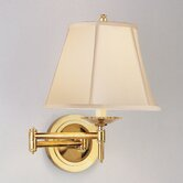 Alvin Swing Arm Wall Lamp in Antique Natural Brass