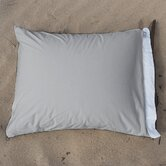 Cotton Jersey Fold Pillowcase in Fog  (set of 2)