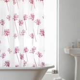 Hookless Shower Curtain in Fuschia Allium