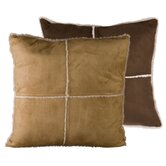 Black Pine Pillow in Tan Reversible