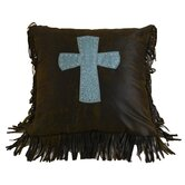 Cheyenne Cross Pillow in Turquoise