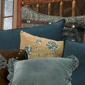 Bella Vista Pillow In Rustic Suede in Blue/Light Tan