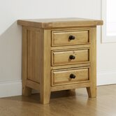 Roma 3 Drawer Bedside Table