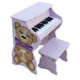 25 Key Teddy Bear Piano & Bench in Lavender