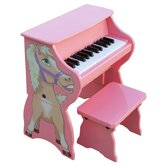25 Key Horse with Bench in Pink