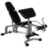 FID Weight Bench with Leg Extension and Preacher Curl