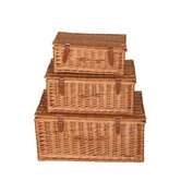 Willow Rectangular Hamper (Set of 3)