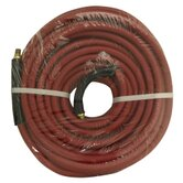 3/8&quot; x 50' Red Rubber Hose Coupled Brass 1/4&quot; Male x Male