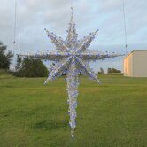 3D Moravian Star in Blue
