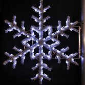 36&quot; Pole Decoration Garland Snowflake in Pure White