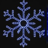 "36"" Pole Decoration Six Point Snowflake in Blue"