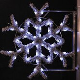 "36"" Pole Decoration Garland Snowflake in Pure White"