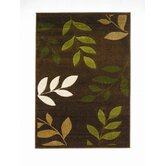 Orleans Manor Brown/Green Carved Rug