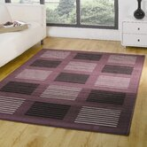 Element Purple / Black Contemporary Rug/Runner