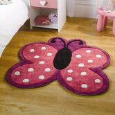 Kiddy Play Polka Butterfly Multi Kids Rug