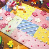 Kiddy Flowers and Dots Multi Kids Rug