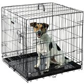 Folding Pet Crate Kennel Wire Cage for Dogs Cats or Rabbits