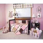 Prep School Pink 4 Piece Crib Bedding Set