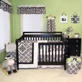 Versailles 4 Piece Crib Set in Black and White