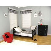 Versailles 4 Piece Toddler Bedding Set in Black and White