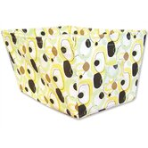 Giggles Large Fabric Storage Bin in Circle Print