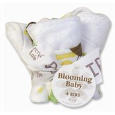 Giggles Blooming Bouquet 4 Pack Bib Set