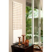Pura Vida I Off The Grid Teak Panel in White with Natural Grid