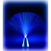 Battery-Operated LED Fiber Lamp in Blue