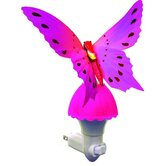 Fiber Butterfly Night Light in Pink